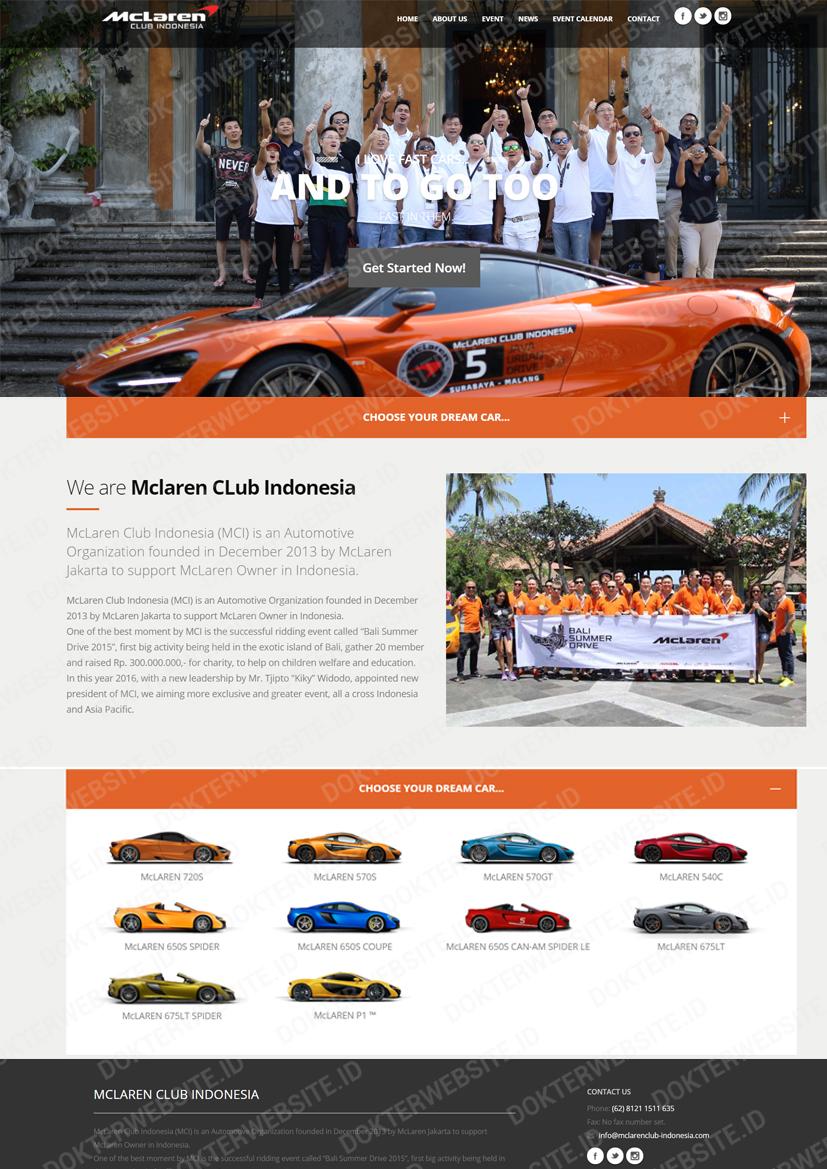 contoh template website
